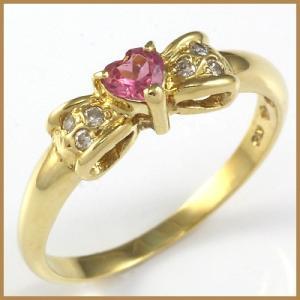 【仕様】  ◆材質(地金):18金   ◆材質(石):ピンクトルマリン:1石 ダイヤモンド:6石(カ...