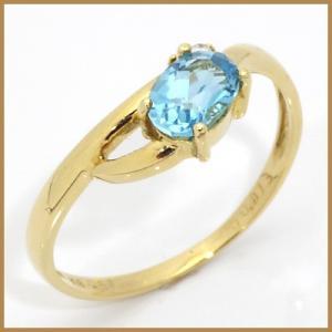 リング 指輪 レディース 18金 K18 ブルートパーズ ダイヤモンド D0.013 女性 かわいい オシャレ 中古 ring 価格見直し|rk-y