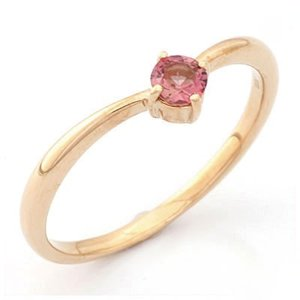 リング 指輪 レディース 18金 K18PG ピンクトルマリン ピンクゴールド 女性 かわいい オシャレ 中古 ring 価格見直し|rk-y