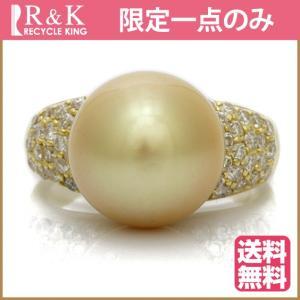 リング 指輪 レディース 18金 K18 ダイヤモンド パール 12mm D0.70 14号 ゴールド 18K * おしゃれ 中古 ring 価格見直し|rk-y