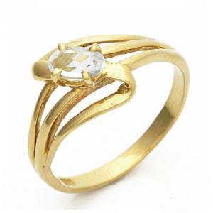 ピンキーリング 指輪 レディース 18金 K18 ブルートパーズ ファランジリング 中古 ring 価格見直し|rk-y