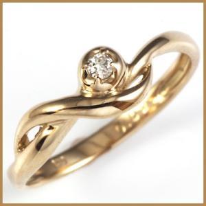 ピンキーリング 指輪 レディース 18金 K18PG ダイヤモンド D0.02 ピンクゴールド ファランジリング オシャレ 中古 ring 価格見直し|rk-y