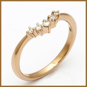 ピンキーリング 指輪 レディース 18金 K18PG ダイヤモンド ダイヤ ピンクゴールド ファランジリング 中古 ring 価格見直し|rk-y