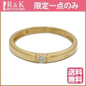 ピンキーリング 指輪 レディース 18金 K18 ダイヤモンド 一粒 3.5号 ゴールド 18K 中古 ring 価格見直し|rk-y