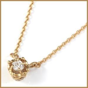 ネックレス レディース 18金 K18PG ダイヤモンド D0.06 ハート ピンクゴールド かわいい オシャレ 中古 necklace 価格見直し|rk-y