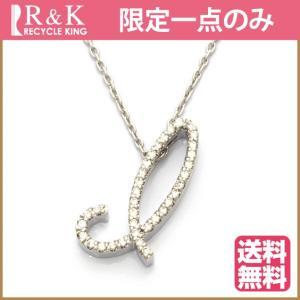ポンテヴェキオ ネックレス レディース 18金 K18WG ダイヤモンド D0.18 Ponte Vecchio アルファベット I BJ ** 中古 necklace 価格見直し|rk-y