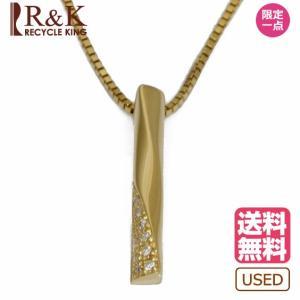 ヴァンドーム青山 ネックレス レディース VENDOME AOYAMA K18 ダイヤモンド スティック バー ベネチアンチェーン 18金 ゴールド 18K 中古 rk-y
