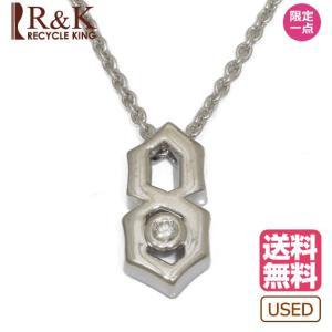 MIKIMOTO ミキモト ネックレス レディース 18金ホワイトゴールド K18WG ダイヤモンド 一粒 18K メンズ おしゃれ かわいい 中古 rk-y