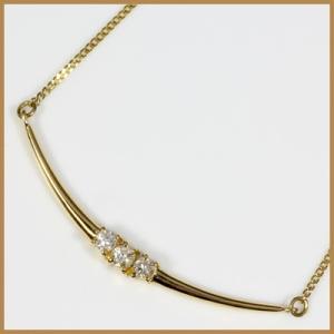 ネックレス レディース 18金 K18 ダイヤモンド D0.13 女性 かわいい オシャレ 中古 necklace 価格見直し|rk-y