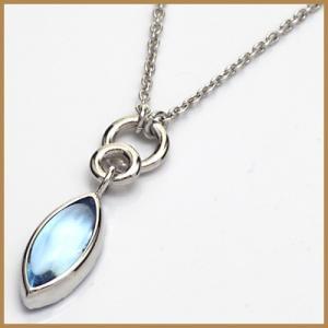 ネックレス レディース 18金 K18WG ブルートパーズ 女性 かわいい オシャレ 中古 necklace 価格見直し|rk-y
