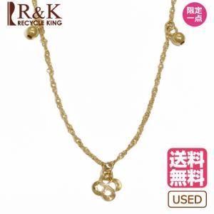 デザインネックレス レディース 18金 K18 ボール 四つ葉 クローバー スクリューチェーン ゴールド 18K メンズ おしゃれ 中古 necklace|rk-y