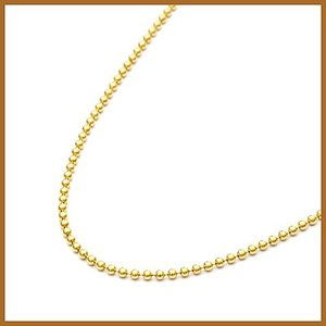 デザインネックレス レディース 18金 K18 チェーン ボール 女性 かわいい オシャレ 中古 necklace 価格見直し|rk-y