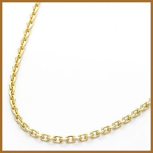 デザインネックレス レディース 18金 K18 チェーン アズキ 女性 かわいい オシャレ 中古 necklace 価格見直し|rk-y