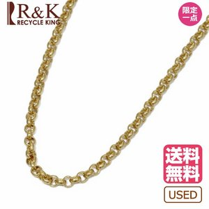 デザイン ネックレス レディース メンズ 18金 チェーン K18 エスカルゴ ゴールド 18K 中古 rk-y
