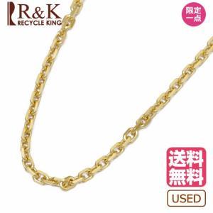 デザイン ネックレス レディース メンズ 18金 チェーン K18 アズキ 小豆 ゴールド 18K 中古|rk-y