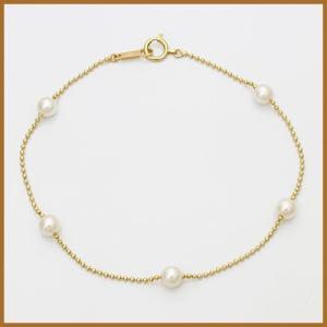 ブレスレット レディース 18金 K18 パール 女性 おしゃれ かわいい オシャレ 中古 bracelet 価格見直し|rk-y