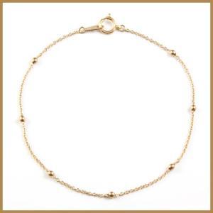 ブレスレット レディース 18金 ピンクゴールド K18PG かわいい オシャレ おしゃれ 中古 bracelet 価格見直し|rk-y