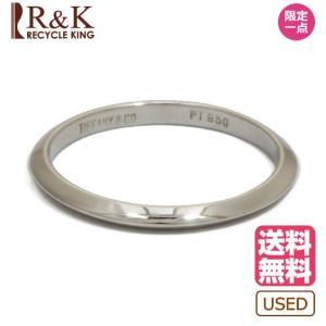 ティファニー リング 指輪 レディース プラチナ TIFFANY&CO. PT950 バンドリング ナイフエッジ 14号 メンズ おしゃれ かわいい BJ|rk-y