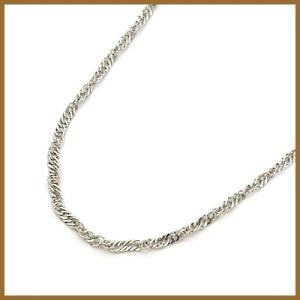 デザインネックレス レディース プラチナ PT850 チェーン スクリュー おしゃれ 中古 necklace 価格見直し|rk-y