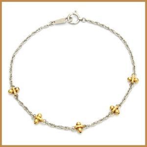 ブレスレット レディース プラチナ 18金 PT850/K18 かわいい おしゃれ 中古 bracelet 価格見直し|rk-y