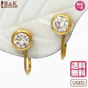 イヤリング レディース 18金 K18 ダイヤモンド D0.60 一粒ダイヤ シンプル メンズ 女性 男性 かわいい おしゃれ 18K ダイア earrings rk-y