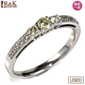 リング 指輪 レディース 18金 K18WG ダイヤモンド D0.103/D0.19 エタニティ * かわいい おしゃれ 中古 ring 価格見直し|rk-y