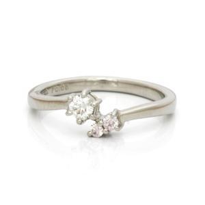 リング 指輪 レディース プラチナ PT900 ダイヤモンド D0.154/D0.05 14号 ダイヤ おしゃれ 中古 ring 価格見直し|rk-y