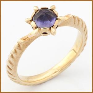 リング 指輪 レディース 10金 K10 アイオライト かわいい おしゃれ 中古 ring 価格見直し|rk-y