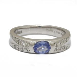 リング 指輪 レディース K9WG サファイア ダイヤモンド D0.11 11号 9金ホワイトゴールド 9K メンズ おしゃれ かわいい 中古|rk-y