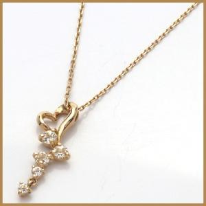 ネックレス レディース 10金 ピンクゴールド K10PG ホワイトトパーズ ハート かわいい おしゃれ 中古 necklace 価格見直し|rk-y