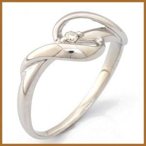 リング 指輪 レディース 10金 ホワイトゴールド K10WG ダイヤモンド D0.02 かわいい おしゃれ 中古 ring 価格見直し|rk-y