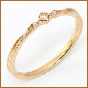リング 指輪 レディース 10金 K10 ダイヤモンド D0.03 女性 かわいい おしゃれ 中古 ring 価格見直し|rk-y