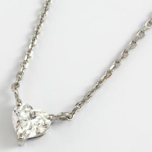 ペンダントネックレス レディース D0.3ct プラチナ PT900/PT850 ハートシェイプ ダイヤモンド 新品 女性 かわいい オシャレ rk-y