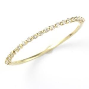 リング レディース 指輪 D0.1ct 10金 K18 K10 ダイヤモンド ハーフエタニティ 新品 女性 かわいい オシャレ rk-y