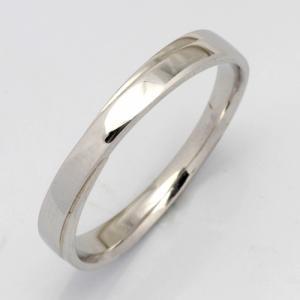 リング 指輪 K10WG シンプル K18WG・PT900も可 女性用 交差 クロス エックス マリッジリング 結婚指輪 10金 18金 プラチナ 新品 rk-y