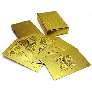 ゴールド トランプ PLAYING CARDS 超ゴージャス! 金のトランプ 水洗い可|rkiss