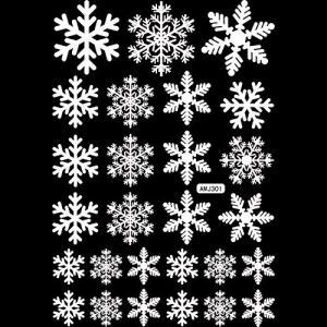 ウォールステッカー クリスマス 雪の結晶 壁紙 シール インテリアステッカー パーティー グッズ 装飾 デコレーション 飾り付け ディスプレイ|rkiss