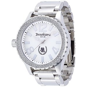 [ブルッキアーナ ブラックレーベル]BROOKIANA BLACKLABEL ハイポリッシュ加工 クリアジルコニアベゼル クウォーツ腕時計 BKL1001-4 メンズ rkiss