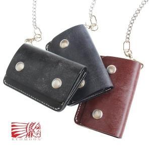 REDMOON 財布 ショートウォレット BD-TWM トラッカーウォレット ブライドルレザー チェーン付き|rmismfukuoka