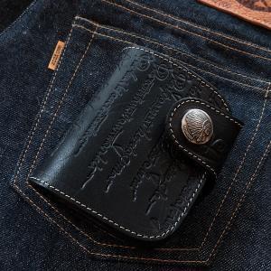 レッドムーン 財布  REDMOON ショートウォレット HR-01Z-CE カリグラフィー エンボス加工 サドルレザー|rmismfukuoka