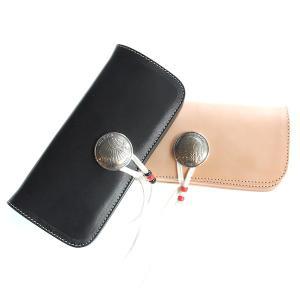 レッドムーン ウォレット 財布 REDMOON ロングウォレット RM-HW02A38 38mmコンチョ サドルレザー 鹿紐チェーキング|rmismfukuoka