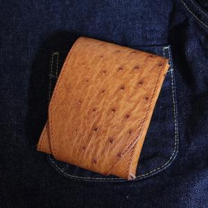 REDMOON  スマートウォレット 財布 RM-R02OS ミニウォレット オーストリッチ サドルレザー 限定商品|rmismfukuoka