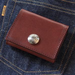 レッドムーン 財布 REDMOON コンパクトウォレット RM-SQ01A  サドルレザー  コンチョ付|rmismfukuoka