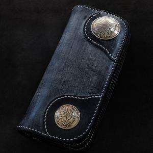レッドムーン ウォレット REDMOON ロングウォレット S-NB02C-BD ブライドルレザー ネイビー 財布【送料無料】|rmismfukuoka