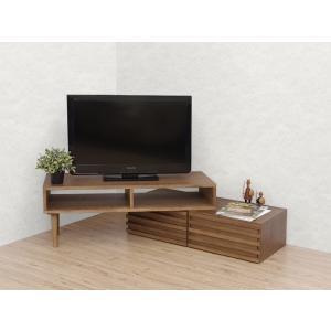 Riga リーガ テレビボード ウォールナット材 コーナー 木製|rmjapan