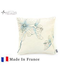 ART de LYS クッションカバー 5540B / 5 Geranium meadow, white フランス製 rmjapan
