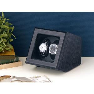 ABIES カペラ ワインディングマシーン 2本巻 エボニー×ブラック 1年保証 腕時計用ケース 収納|rmjapan