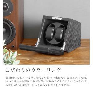 ABIES カペラ ワインディングマシーン 2本巻 エボニー×ブラック 1年保証 腕時計用ケース 収納|rmjapan|03
