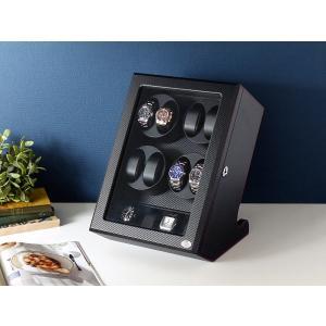 ABIES アビエス ワインディングマシーン 8本巻 縦型 カーボン調 1年保証  腕時計用ケース 収納|rmjapan