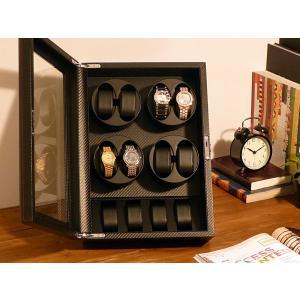 ABIES アビエス ワインディングマシーン 8本巻 縦型 カーボン調 1年保証  腕時計用ケース 収納|rmjapan|20